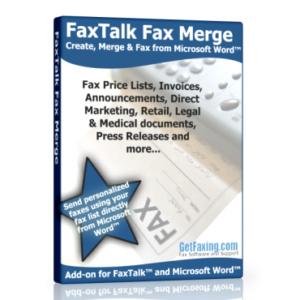 FaxTalk Fax Merge Box Shot