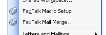 Click to view FaxTalk Merge for Microsoft Word 2003/XP 1.0.2 screenshot