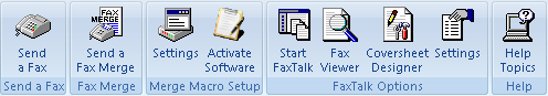 FaxTalk Merge for Microsoft Word 2007 Screenshot
